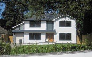 marc of approval, parkstone, refurbishment, poole, dorset,new build, renovation, front garden, landscaped, turf, driveway, garage
