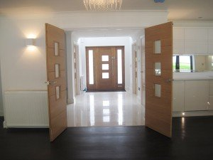 marc of approval, parkstone, refurbishment, poole, dorset,new build, renovation, hallway, kitchen, marble floor tiles