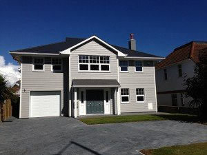 marc of approval, parkstone, refurbishment, poole, dorset, renovation, new build, front, front door, cladding, new england style house, sandbanks,