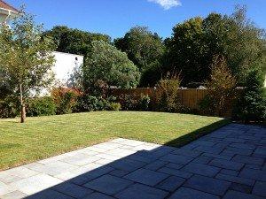 marc of approval, parkstone, refurbishment, poole, dorset, renovation, new build, back garden, landscaped, patio, turf